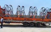 First Global Logistics Ship Crane Parts to Belgium