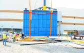 MIS Perform Lifting & Installation of Large Glass Panel