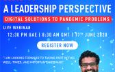 S.V. Anchan of Safesea on Panel of TMS COVID-19 Webinar Series