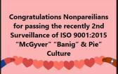 Nonpareil Pass ISO 9001:2015 2nd Surveillance Audit