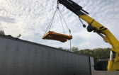 KGE with Transport of Heavy Liebherr Crane