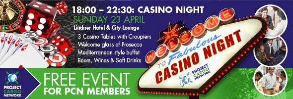 PCN Casino Night on Sunday 23 April 2017