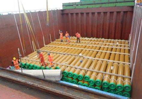 W.I.S. Italy Report the Shipping of Pipes in Huge Ongoing Project