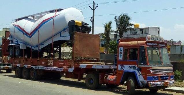 Vangard Logistics Handle Challenging Shipment of Bulk Tank