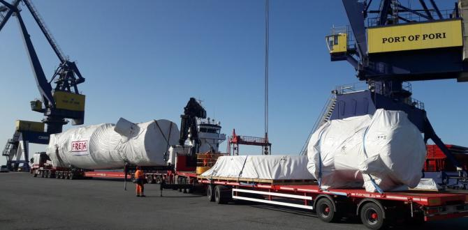 FREJA Handle Cargo for New Plant in Finland