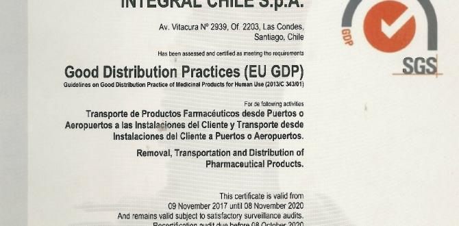 Integral Chile Certified for Medicinal Products Transportation