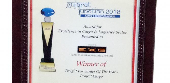 EXG Awarded 'Project Cargo Forwarder of the Year' at Gujarat Junction Awards 2018