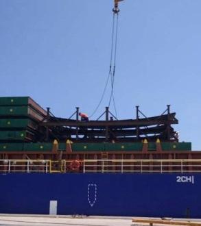 W.I.S. Shipping Nickel Steel Plates for Tengiz Oilfield