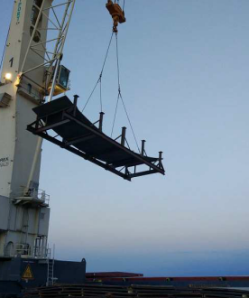 W.I.S. Shipping Nickel Steel Plates for Tengiz Oilfield