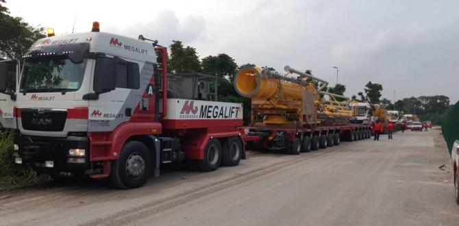Megalift Handles Transport of 4 Oil & Gas Loading Arms