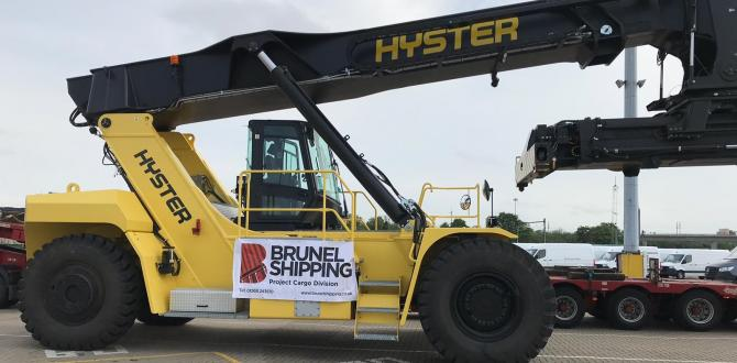 Brunel Handle Transport of Hyster ReachStacker in the UK