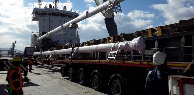 Element International and CF&S with Transportation of Masts