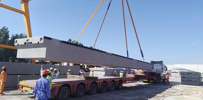 WSS UAE Handles Transportation of Precast Concrete Pontoons