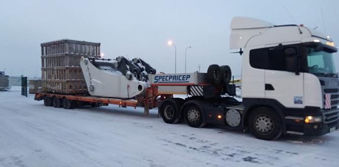 Goodrich with Transportation of Liebherr Excavator & Bulldozers