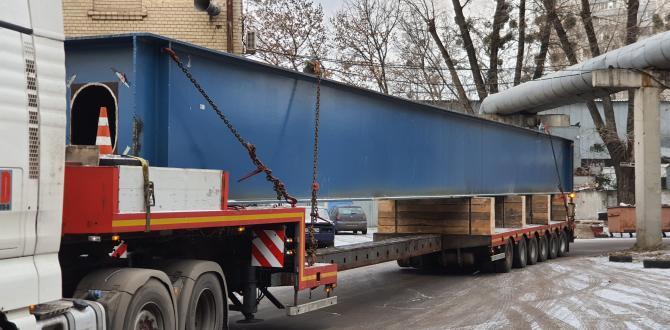 Alphatrans Ukraine Deliver Long Crane Beam to Belgium