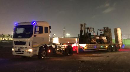 JSL Qatar & WSS UAE Handle Shipment of Construction Vehicles