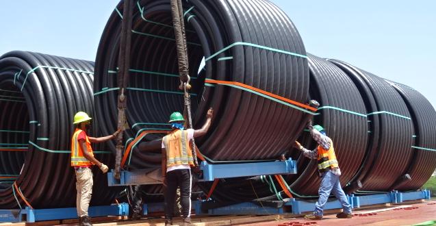 Anker Logistica Handle Shipment of 17 Flexsteel Pipe Coils