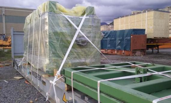 Fortune in Italy Transport Dismantled Paper Plant to India