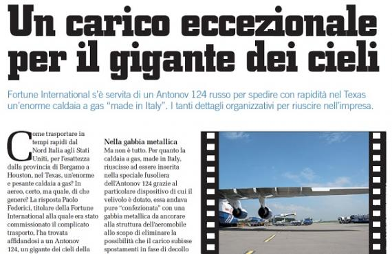 Fortune Appear In Logistica Magazine