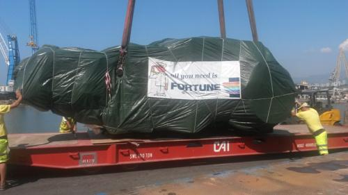 Fortune Handle Complete Movement of 100tn Machine from Italy to the USA
