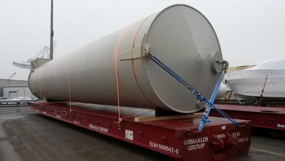 Intertransport GRUBER Arrange Transport of Large Tank from Germany to Egypt