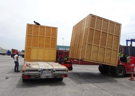 Delta Maritime in Urgent OOG Transshipment to Albania