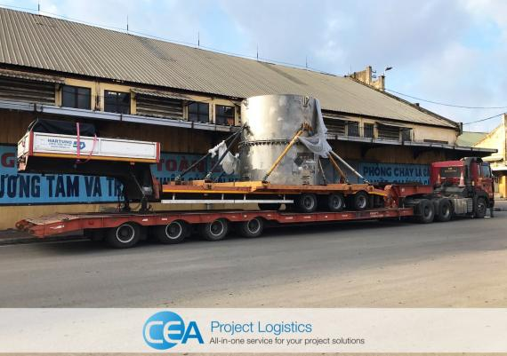 CEA Handle Transportation of Large Chemical Tank & Trailer