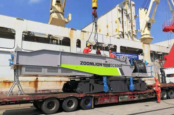 OLA Groups with Another Breakbulk Shipment of Crawler Crane