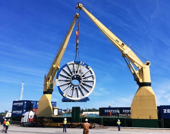Sadleirs Global Logistics Move Cable Reel to Malaysia