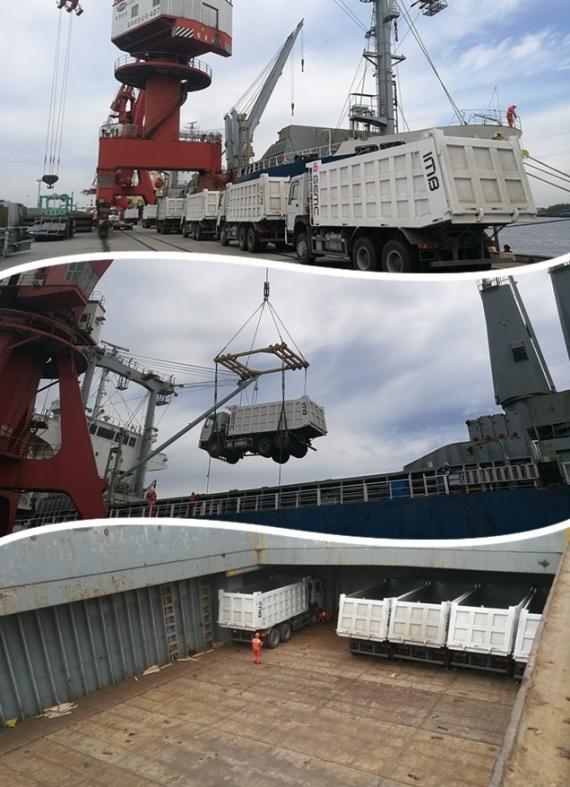 OLA Groups Arrange Transport of 18 Trucks by Breakbulk