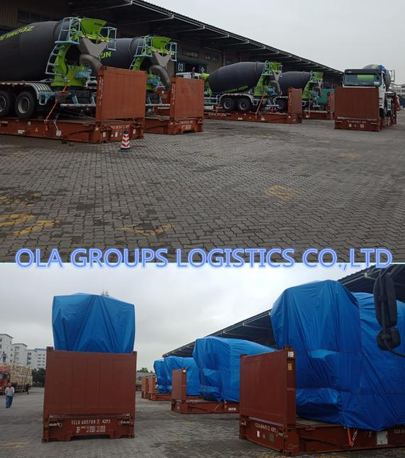 OLA Groups Logistics Arrange Shipping of 10 Concrete Mixer Sets