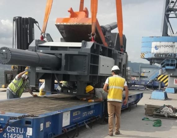 Origin Logistics Handle 40tn Cutting Machine in Turkey
