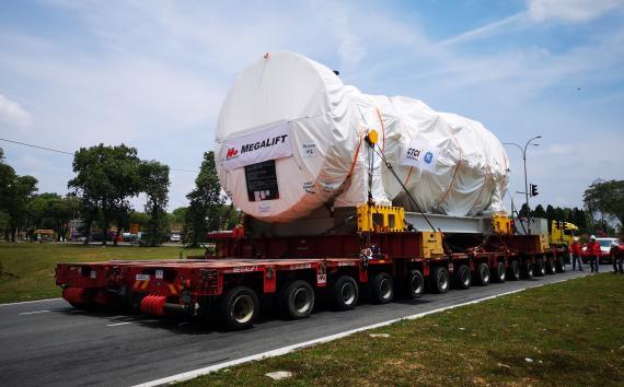 Megalift Report Successful Transportation of 2 Gas Turbines
