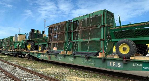 CF&S Transports Agricultural Machinery by Railway