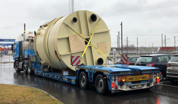 Gebrüder Weiss Transports Complete Concrete Production Line