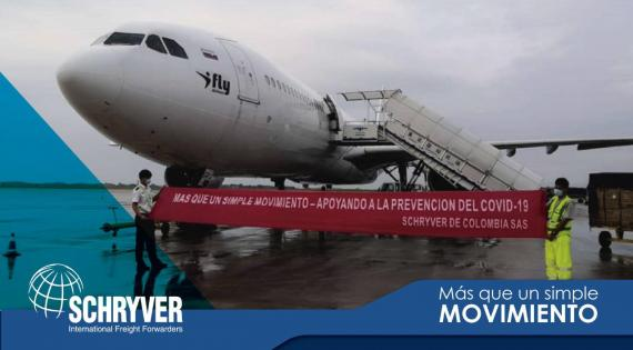 Schryver de Colombia with Air Charter Project for PPE Masks