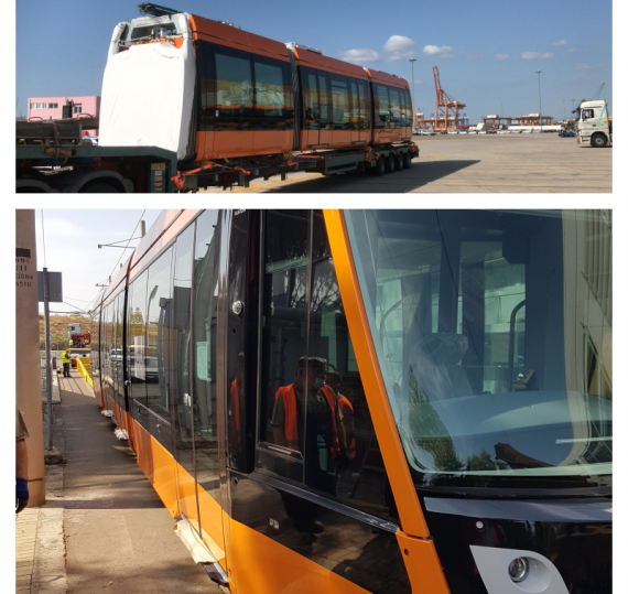 Delta Maritime with Transport of Tram Trains in Greece