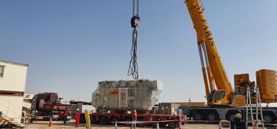 Masstrans Freight Deliver for Power Project in the UAE