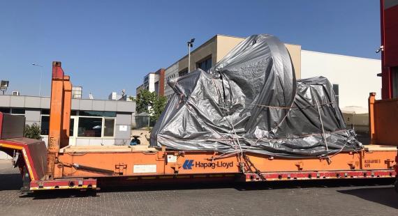 BATI Ships a Running Wheel from Turkey to Sudan