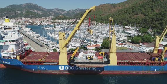 BATI Handles Shipping of 240tn Multicat from Turkey to Canada