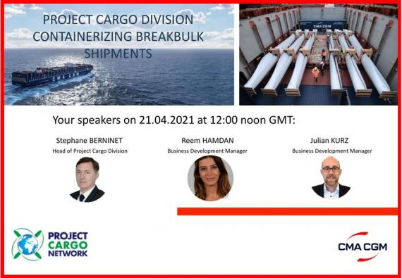 PCN Arrange Exclusive Webinar with CMA CGM Project Cargo Division