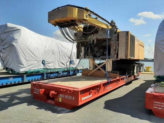 Wirtz Belgium with Shipment of Dismantled Crane to Oman