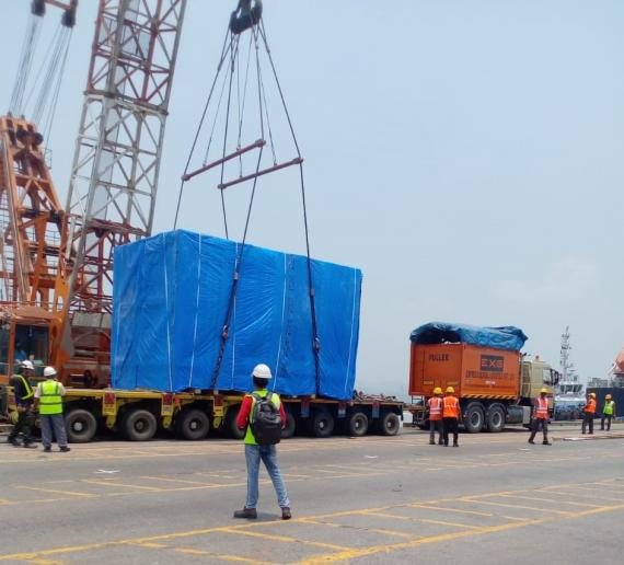 EXG Handle Two 80mt Rotor Units from India to Europe