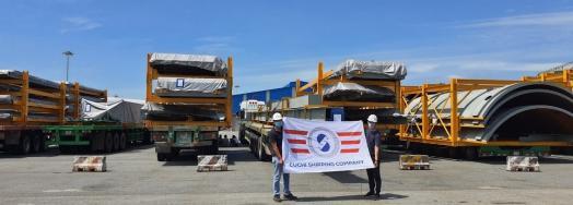 Cuchi Vietnam Handle Transport of OOG Steel Structures