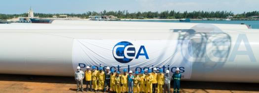 CEA Projects Vietnam Deliver 490 Wind Tower Sections